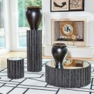 Reflective Column Side Table-Black Cerused Oak Product Image