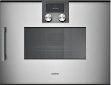 200 Series Speed Microwave Oven Full Glass Door In Gaggenau Metallic Right-hinged Controls On Top