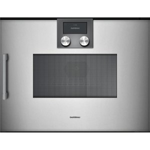 Gaggenau200 Series 200 Series Speed Microwave Oven Full Glass Door In Gaggenau Metallic Right-Hinged Controls On Top