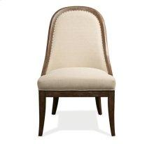 Somerset Lane Upholstered Hostess Chair Amaretto finish