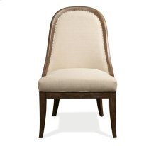 Somerset Lane Upholstered Hostess Chair Amaretto finish
