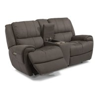 Nance Fabric Power Reclining Loveseat with Console and Power Headrests Product Image