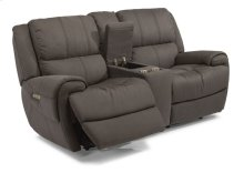 Nance Fabric Power Reclining Loveseat with Console and Power Headrests