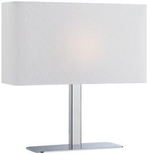 Table Lamp, Chrome/white Fabric Shade, E12 Type G 40w