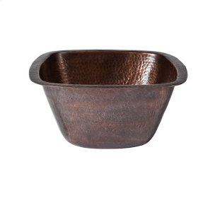 """Tamsin 15"""" Square Copper Bar Sink - Hammered Antique Copper"""