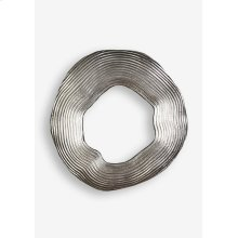 (LS) Antique Pewter Finished Abstract Metal Wall Decor