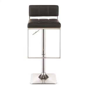 Contemporary Black Adjustable Bar Stool