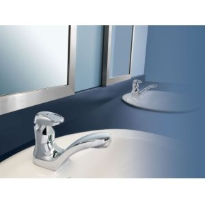 M-PRESS chrome one-handle metering lavatory faucet