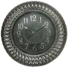 CLOCK ANTIQUE SILVER FINISH