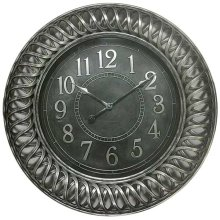 CLOCK ANTIQUE SILVER FINISH