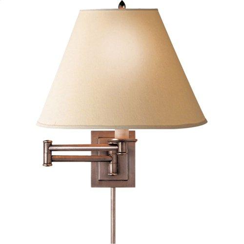 Visual Comfort S2500AN-L Studio Primitive 18 inch 75 watt Antique Nickel Swing-Arm Wall Light in Linen