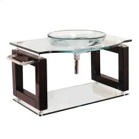 Single 39.5 in. W Black Finish Vanity Product Image
