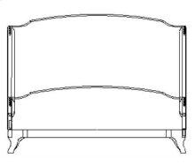 Cali King Louis XV Mahogany Bed, Upholstered in COM