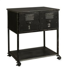Alastor 2-Drawer Rolling Cart Table