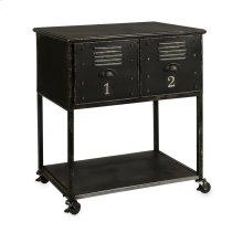 Alastor 2-Drawer Rolling Cart Table