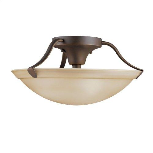 """15.5"""" 3 Light Semi Flush Olde Bronze®"""