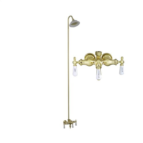 Tub Filler with Diverter - Sunflower Shower Head - Polished Brass