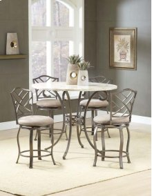 Brookside 5pc Counter Height Set w/ Hanover Stools