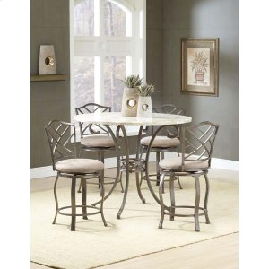 Hillsdale FurnitureBrookside 5pc Counter Height Set W/ Hanover Stools