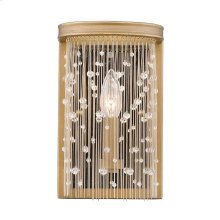 Marilyn CRY Wall Sconce in Peruvian Gold with Crystal Strands