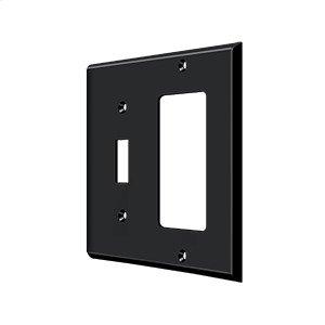 Switch Plate, Single Switch/Single Rocker - Paint Black