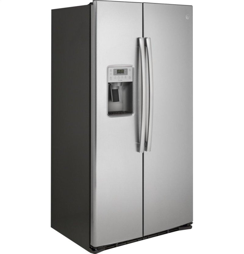 GE Profile™ Series 21 9 Cu  Ft  Counter-Depth Side-By-Side Refrigerator
