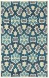 Garden Mosaic Beige Blue Hand Tufted Rugs