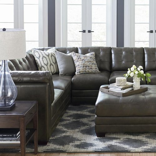 3 Seats on Right/Affinity Espresso Affinity Large L-Shaped Sectional