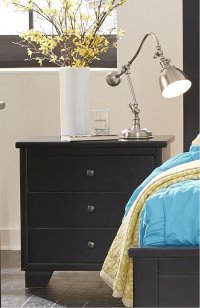 Nightstand - Black Finish Product Image
