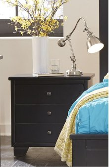 Nightstand - Black Finish