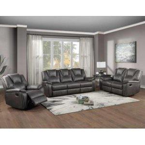 Steve Silver Co.Katrine 3-Piece Manual Reclining Set, Charcoal (Sofa, Loveseat & Chair)