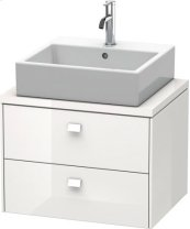 Brioso Vanity Unit For Console Compact, White High Gloss (decor)