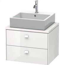 Brioso Vanity Unit For Console Compact, White High Gloss (decor)