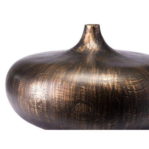 Petizo Vase Lg Black & Gold
