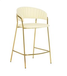 Padma Cream Vegan Leather Counter Stool - Set of 2