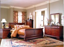 6-Piece Bedroom - 3 PC. Queen Bed, Dresser, Mirror, Chest