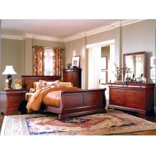 6-Piece Bedroom - 3 PC. Queen Bed, Dresser, Mirror, Chest