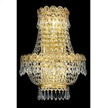 1900 Century Collection Wall Sconce with Neck Gold Finish