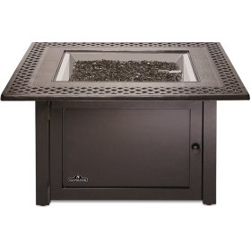 Victorian Square Patioflame Table , Bronze , Propane