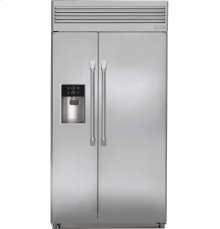 """Monogram® 42"""" Built-In Professional Side-by-Side Refrigerator with Dispenser"""