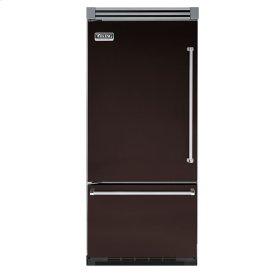 """Chocolate 36"""" Quiet Cool™ Bottom-Mount Refrigerator/Freezer - VIBB Tru-Flush™ (Left Hinge Door)"""