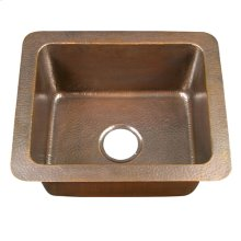 Reece Small Kitchen Single Bowl Drop-In - Hammered Antique Copper
