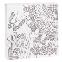 """Grow Love"" Wall Block. Product Image"