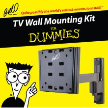Articulating/Tilt/Pan mount for most small to medium size TVs including For Dummies installation guide and For Dummies step-by-step DVD video.