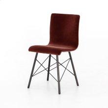 Merlot Velvet Cover Diaw Dining Chair