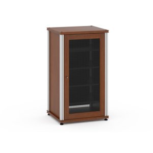 Salamander DesignsSynergy Solution 402, Single-Width AV Cabinet, Cherry with Aluminum Posts