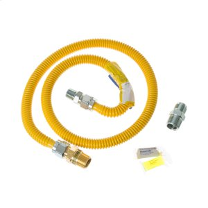 GE4 ft. Gas Range Connector Kit with Auto Shut Off