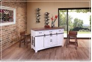 3 Drawer Kitchen Island w/2 sliding doors, 2 Mesh doors on each side Product Image