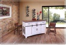 3 Drawer Kitchen Island w/2 sliding doors, 2 Mesh doors on each side