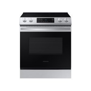 Samsung Appliances6.3 cu ft. Front Control Slide-in Electric Range with Wi-Fi in Stainless Steel